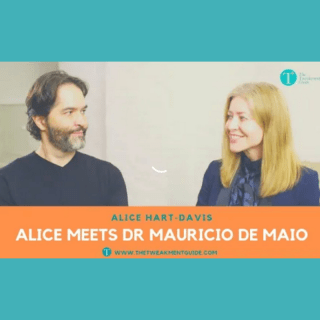 image of Dr Mauricio de Maio being interviewed by Alice Hart-Davis