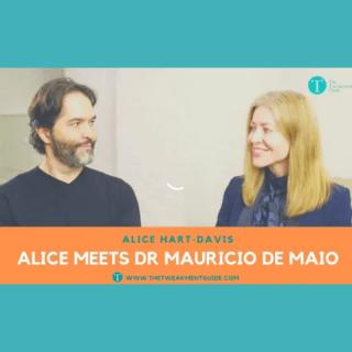 image of Dr Mauricio de Maio being interviewed by Alice Hart-Davis
