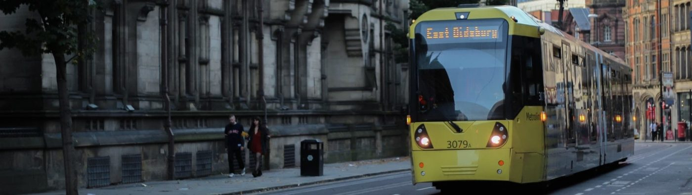 Photo of tram in Manchester city centre