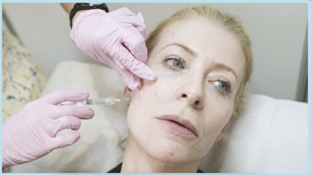 Alice Hart-Davis receiving the new Bolero Revive skin booster treatment.