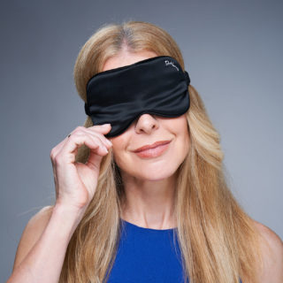 Alice Hart-Davis wearing Dr Harris Mask